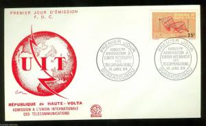 UPPER VOLTA  CENTENARY OF THE INT'L TELECOMMUNICATION UNION STAMP FDC