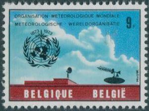 Belgium 1973 SG2298 9f WMO emblem equipment MNH