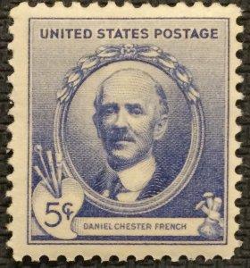 US MNH #887 DG Single Daniel Chester French SCV $.50 L25