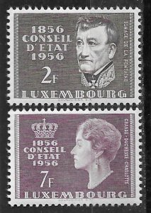 Luxembourg # 322-23  Council of State   (2) Mint NH
