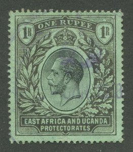 EAST AFRICA & UGANDA PROTECTORATES #49a USED VF