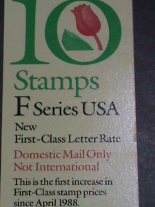 UNITED STATES STAMP:1991-SC#2519A -F-SERIES STAMPS-ROSE-BOOKLET OF10 STAMPS