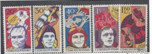 Czechoslovakia, 2139-43, Space Research - 20th CTO Singles, NH