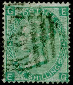 SG101, 1s green plate 4, FU. Cat £140. WMK EMBLEMS. C83 RIO DE JANEIRO. EG