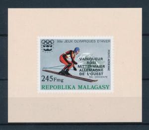 [55769] Madagascar 1976 Olympic games Skiing with overprint MNH Sheet