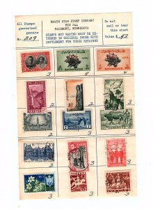80 Approval sheets from old stamp company. 1200 stamps  see descrip