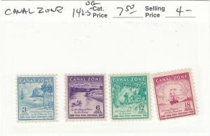 Canal Zone, Scott #142-145 set - Original Gum