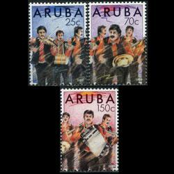 ARUBA 1989 - Scott# 46-8 Dande Band Set of 3 LH