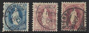 Switzerland #86 87a and #87b  Hi Catalogue Value
