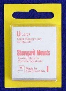 Showgard Pre-Cut Clear Stamp Mounts Size U33/27