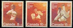 Canada SC# B7-9 Olympics set MNH
