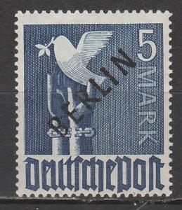 WEST BERLIN 1948 BERLIN OVERPRINTED DOVE 5MK MNH **