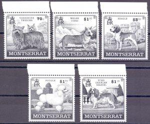 Montserrat. 1999. 1100-4 bl83. dog fauna. MNH.