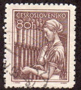 Czechoslovakia 651 - CTO / Used - Textile Worker