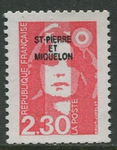 St Pierre et Miquelon.-Scott 530-Definitives -1990- MNH - Single 2.30fr Stamp