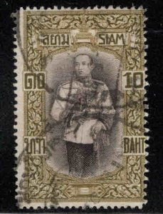 Thailand Scott 174 Used King 10B stamp London Printing 1917 CV$25