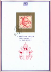 SLOVAKIA/1995, (Coll. Sheet) Visit of Pope John Paul II., MNH