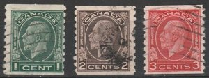 #205-07 Canada Used George VI coils