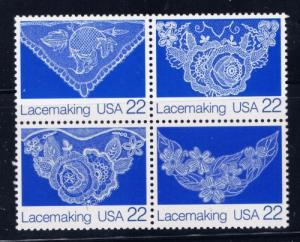 U.S. 2354a NH Lacemaking Block of 4