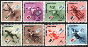 Dominican Republic. 1957. 585A-92A. Olympic sports. MNH.
