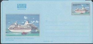 BARBADOS 65c Cruise liner 'Windward'  aerogramme unused........ ............L223