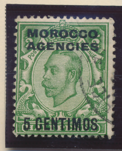 Great Britain, Offices In Morocco Stamp Scott #63, Used - Free U.S. Shipping,...