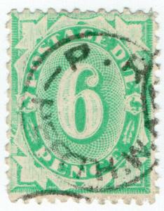(I.B) Australia Postal : Postage Due 6d (inverted Crown NSW watermark)