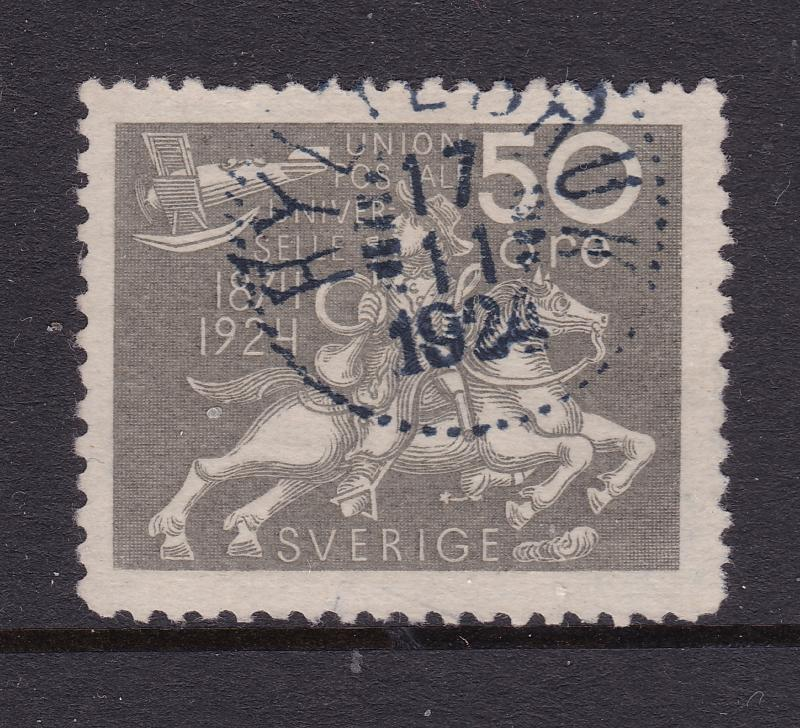 Sweden a used 50ore grey from the 1924 set