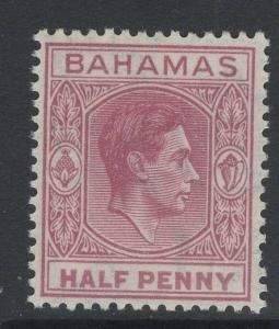BAHAMAS SG149e 1952 ½d BROWN-PURPLE MNH