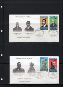 Senegal 1971 F.D.C. Prominent Blacks Set (4) Sc # C95-C98