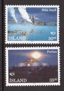 Iceland   #768-769  MNH  1993   Nordica  hot water storage tank. blue lagoon