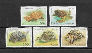 TURTLES - AZERBAIJAN #520-4  MNH