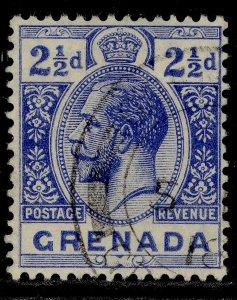 GRENADA GV SG94, 2½d bright blue, FINE USED.