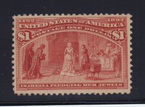 241 VF+ OG previously hinged w/cert with nice color cv $ 1100 ! see pic !