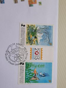 SINGAPORE 2013 FDC - WORLD STAMP EXHIBITION 2015 IN EXCELLENT CONDITION.