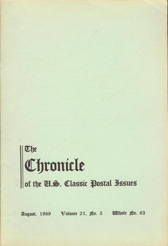 The Chronicle of the U.S. Classic Issues, Chronicle No. 63