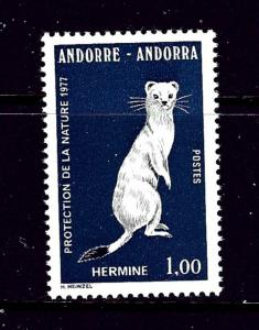 French Andorra 253 MNH 1977 Ermine