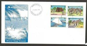 1982 Anguilla Scouts 75th anniversary sailing FDC