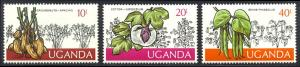 HALF-CAT BRITISH SALE: UGANDA #133-46 Mint NH