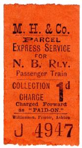 (I.B) North British Railway : Express Parcel Service 1d (MH & Co)