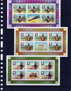 Ghana 1979 Sir Rowland Hill Music Sc 708a-d Sheetlets MNH VF