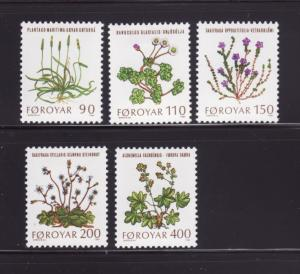 Faroe Islands 48-52 Set MHR Flowers (B)