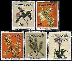 HERRICKSTAMP ST. HELENA Sc.# 636-40 Flowers