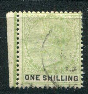 QV NIGERIA LAGOS 1887-1902 ISSUES 1/- SG 38 FINE USED (1)