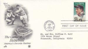 1989, Lou Gehrig, Artcraft/PCS, FDC (E9209)