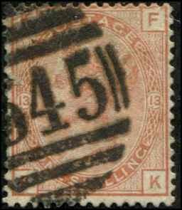 Great Britain SC# 65  Victoria plae # 13 Used SCV $700.00 small ccorner rease