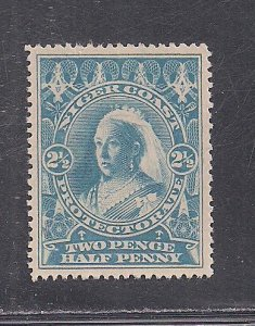 NIGER COAST PROT. SC# 46  LT BLUE COLOR VARIETY VF/MOG