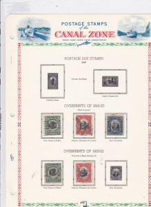 canal zone 1918-21 stamps page  ref 10781