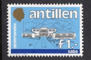 Netherlands Antilles  #544  1985  used  buildings 1 gld
