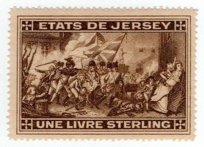 (I.B) Jersey Revenue : Duty Stamp £1 (1900)
